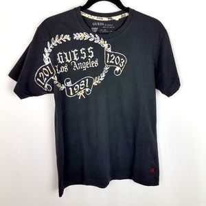 GUESS LOS ANGELES Small Men's Black White T-Shirt